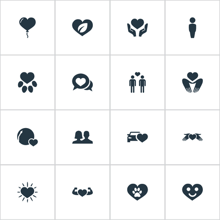 Vector Illustration Set Of Simple Valentine Icons Banco de Imagens - 82342849