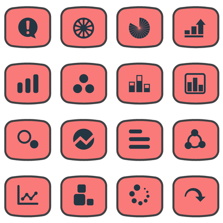 Vector Illustration Set Of Simple  Icons Ilustração