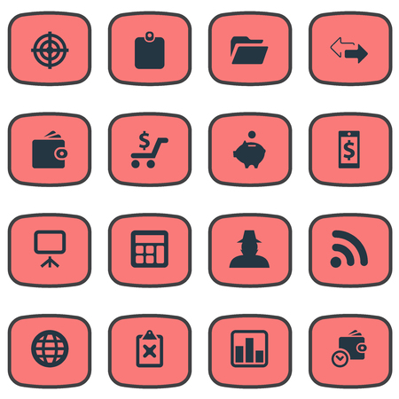 Vector Illustration Set Of Simple Finance Icons