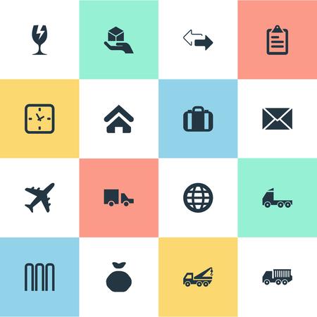 Vector illustratie Set van eenvoudige karting iconen