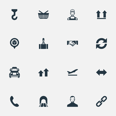 Vector Illustration Set Of Simple Systematization Icons Illustration