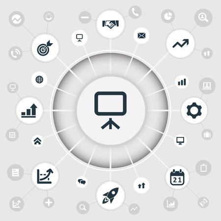 Vector Illustration Set Of Simple Teamwork Icons