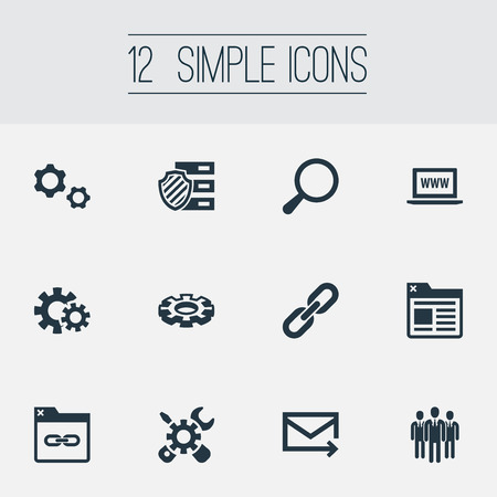 Vector Illustration Set Of Simple Review Icons