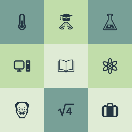 Vector Illustration Set Of Simple Study Icons