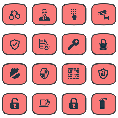 Illustration vectorielle Set Of Simple Safety Icons