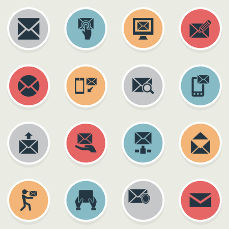 Vector Illustration Set Of Simple Communication Icons