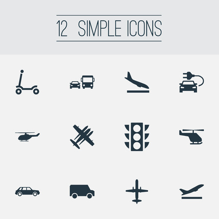 Vector Illustration Set Of Simple Transportation Icons Stock Vector - 82342961