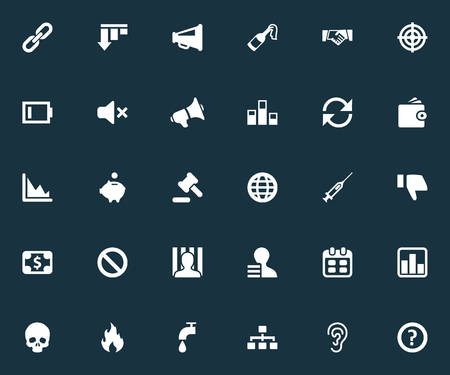 Vector Illustration Set Of Simple Trouble Icons. Elements Graphic, Cv, Fire And Other Synonyms Battery, Prohibited And Doubt.