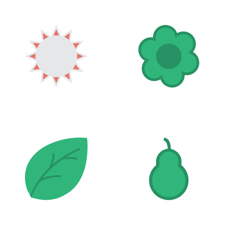 Vector Illustration Set Of Simple Gardening Icons. Elements Punching Bag, Sunny, Sheet And Other Synonyms Plant, Leaflet And Punching.