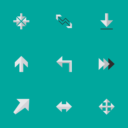 Vector Illustration Set Of Simple Indicator Icons. Elements Arrow, Loading, Onward And Other Synonyms Forward, Alert And Onward.
