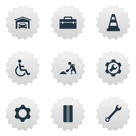 Vector Illustration Set Of Simple Vehicle Icons