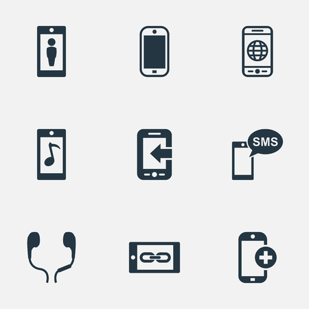 Vector Illustration Set Of Simple  Icons Ilustrace