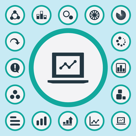 Elements Surge, Cycle, Loading And Other Synonyms Section, Chart And Analytic.  Vector Illustration Set Of Simple Chart Icons. Illustration