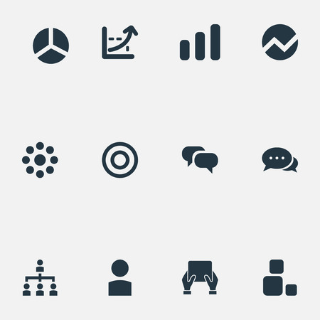 Vector Illustration Set Of Simple Presentation Icons. Elements Growing Up, Reload, Profile And Other Synonyms Buffering, Reload And Loading.