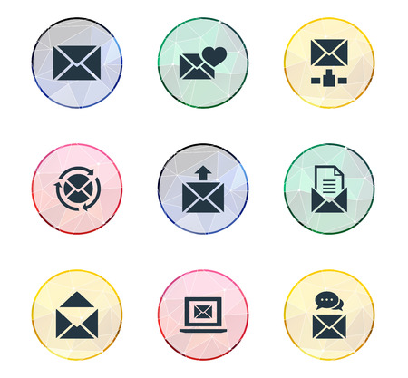 Vector Illustration Set Of Simple Mail Icons. Elements Message, Sending, Refresh Message And Other Synonyms Envelope, Dispatch And Message. Иллюстрация