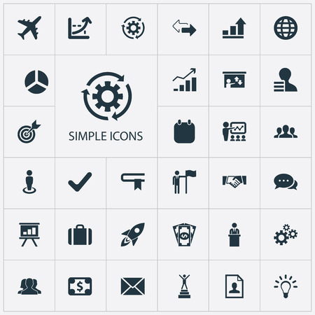 divergence: Vector Illustration Set Of Simple Plan Icons. Elements Cash Pay, Global Trade, Increase Graph And Other Synonyms Efficient, Yes And Team. Illustration