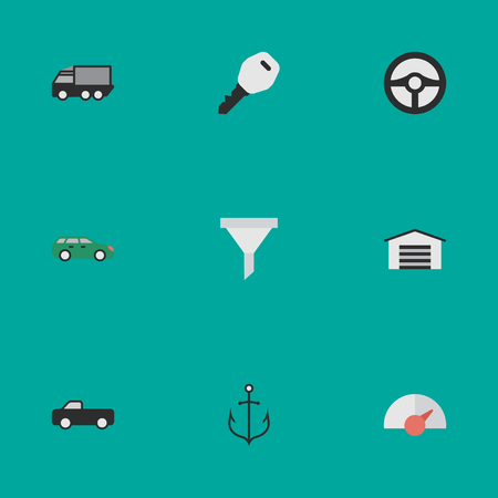 Vector Illustration Set Of Simple Shipping Icons. Elements Open, Truck, Speed And Other Synonyms Strainer, Lock And Automobile.