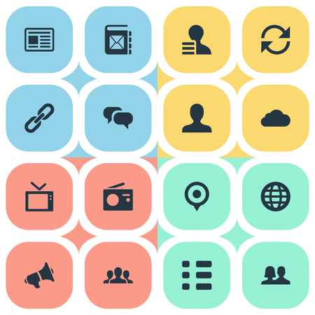Vector Illustration Set Of Simple Transmission Icons. Elements Telly, Update, Member And Other Synonyms Dialog, Earth And Replacement.
