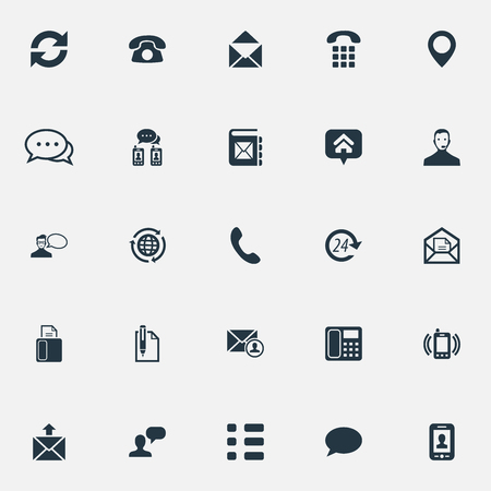 Vector Illustration Set Of Simple Connect Icons. Elements Talk, Speech Cloud, Home Mark And Other Synonyms Technology, Ringing And Telephone.