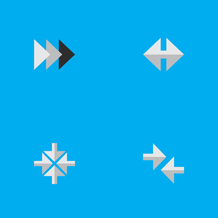 Vector Illustration Set Of Simple Cursor Icons. Elements Onward, Inside, Indicator And Other Synonyms Ahead, Onward And Forward.
