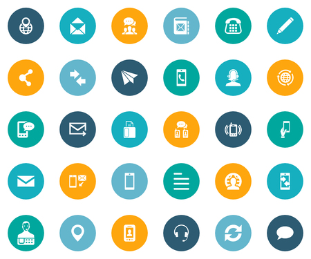 Illustrazione vettoriale Set di icone semplici Connect. Elementi Lavoro internazionale, Consegna rapida, Posting e altri collegamenti di sinonimi, tecnologia e linguaggio. Archivio Fotografico - 82943944