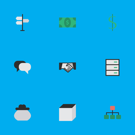Elements Wallet, Structure, Dollar And Other Synonyms Dollar, Drawer And Construction.  Vector Illustration Set Of Simple Job Icons.