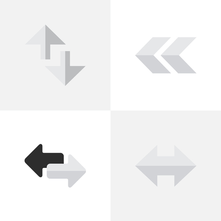 Elements Import, Back, Everyway And Other Synonyms Loading, Rearward And Internet.  Vector Illustration Set Of Simple Arrows Icons. Иллюстрация