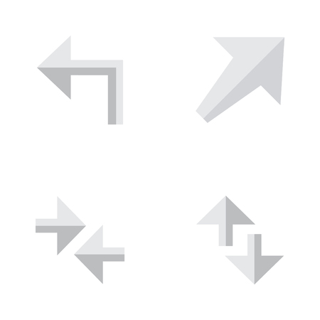 Elements Export, Cursor, Orientation And Other Synonyms Southwest, Arrow And Import.  Vector Illustration Set Of Simple Arrows Icons.
