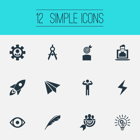 Vector Illustration Set Of Simple Visual Art Icons Ilustração