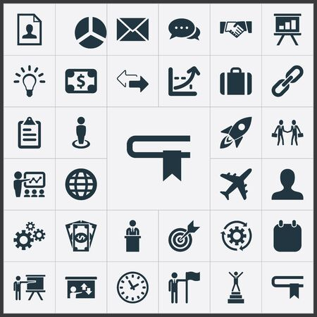Vector Illustration Set Of Simple Strategy Icons. Elements Suitcase, Cash Pay, Creativity And Other Synonyms Information, International And Flag.