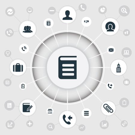 Vector Illustration Set Of Simple Partnership Icons. Elements Connection, Report, Suitcase And Other Synonyms Letter, Team And Handshake.