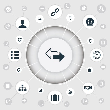 Elements Agreement, Innovation, Growth Chart And Other Synonyms Hierarchy, Pin And Clock.  Vector Illustration Set Of Simple Conference Icons.