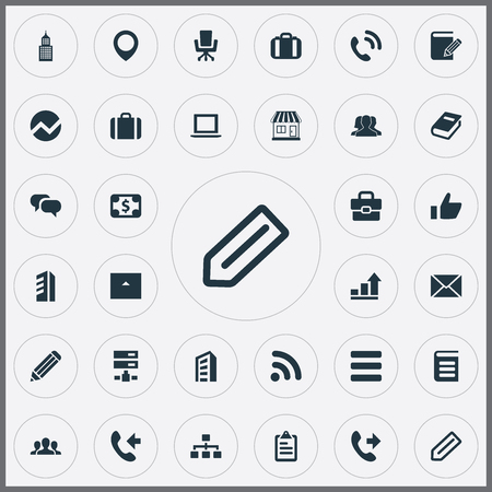 Vector Illustration Set Of Simple Partnership Icons. Elements Manuscript, Team, Team And Other Synonyms Scroll, Building And Information.