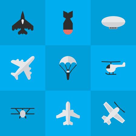 Vektor-Illustration Satz von einfachen Flugzeug Icons. Elemente Flugzeug, Flugzeug, Flugzeug und andere Synonyme Flugzeug, Luftfahrt und Rakete. Standard-Bild - 83160580