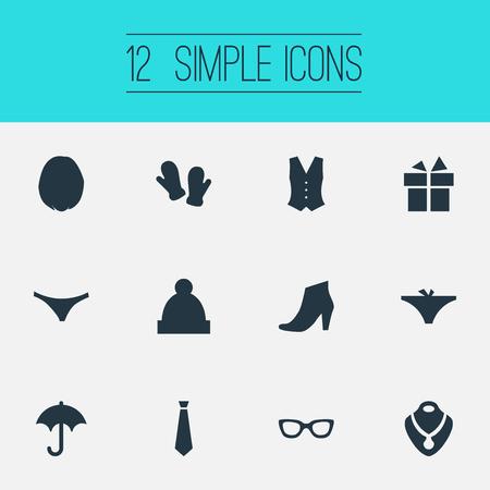 Elementi Ski Hat, guanti, occhiali e altri sinonimi Suit, Winter And Parasol. Illustrazione vettoriale Set di icone semplici del vestito. Archivio Fotografico - 83338698