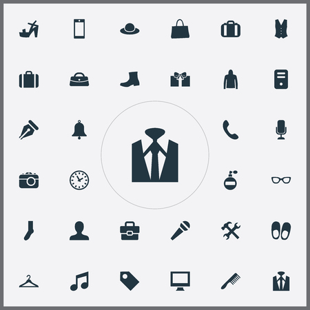 Vector Illustration Set Of Simple Instrument Icons. Elements Bonette, Eyeglasses, Monitor And Other Synonyms Bag, Screen And Travel.