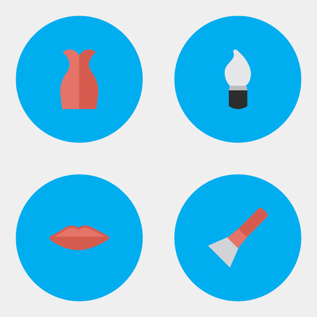 Vector Illustration Set Of Simple Glamour Icons. Illusztráció