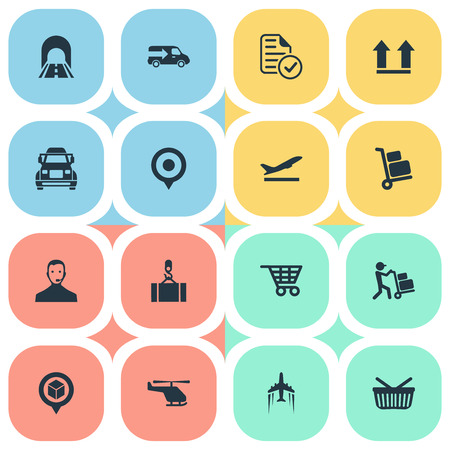 Vector Illustration Set Of Simple Systematization Icons. Elements Marker, Employee, Retail And Other Synonyms Departure, Mark And Lorry.