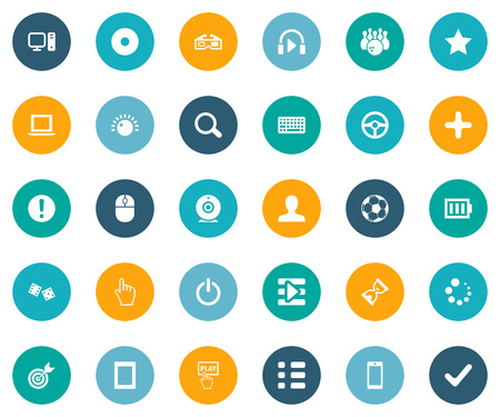 Vector Illustration Set Of Simple Leisure Icons. Elements Asterisk, Phone, Keyboard And Other Synonyms Racing, Check And Star.