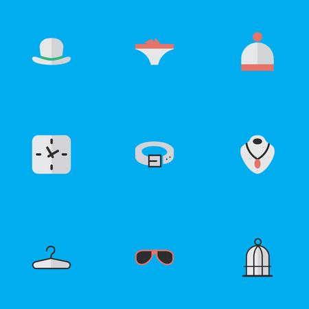 e36ea5618ef78 Foto de archivo - Ilustración vectorial Conjunto de iconos de equipos  simples. Elementos Gancho de ropa