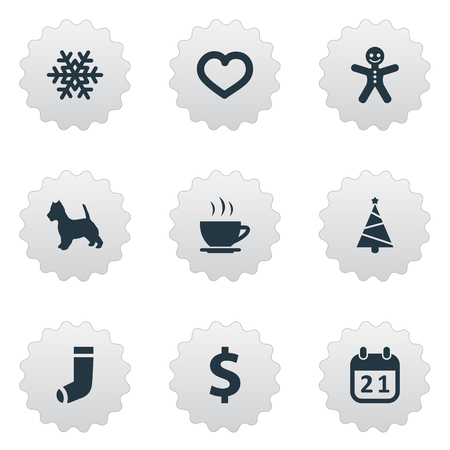 Vector Illustration Set Of Simple Brood Icons. Elements Love, Hosiery, Money And Other Synonyms Greenback, Ginger And Snow.