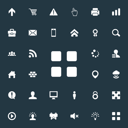 Vector Illustration Set Of Simple Design Icons. Elements Creativity, Profile, Constructing And Other Synonyms Still, Caution And Marker.