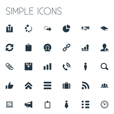 Vector Illustration Set Of Simple Team Icons. Elements Textbook, Diagram, Note Pad And Other Synonyms Wifi, Megaphone And Group.
