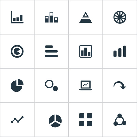 Elements Segment, Segmentation, Decline And Other Synonyms Decrease, Decline And Chart.  Vector Illustration Set Of Simple Chart Icons.