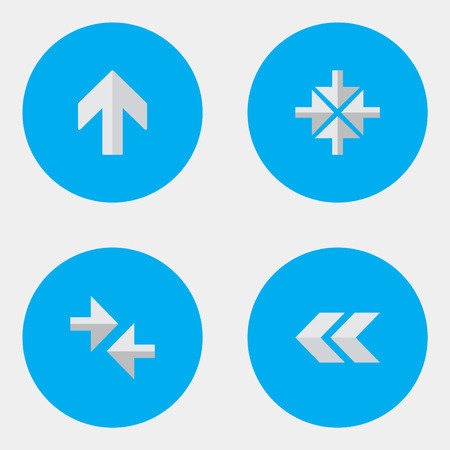 Elements Upwards, Export, Inside And Other Synonyms Import, Arrow And Back.  Vector Illustration Set Of Simple Indicator Icons. Illustration