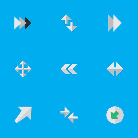 요소 전방, 커서, 등 및 기타 동의어 가져 오기, 뒤로 및 뒤로. 벡터 일러스트 레이 션 간단한 화살표 아이콘의 집합입니다. 스톡 콘텐츠 - 83660428