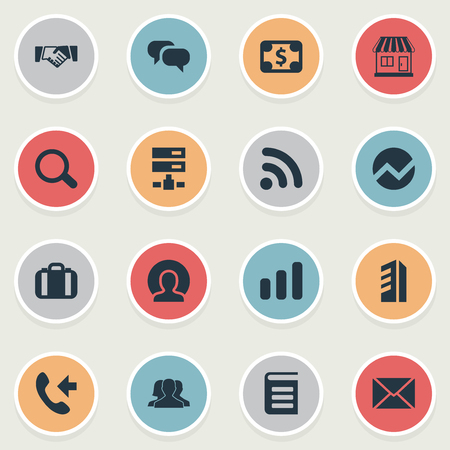 Elements Magnifier, Information, Store And Other Synonyms Scrutiny, Graph And Interview.  Vector Illustration Set Of Simple Teamwork Icons.