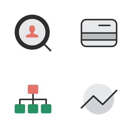 Elements Pay, Diagram, Magnifier And Other Synonyms Engine, Structure And Diagram.  Vector Illustration Set Of Simple Job Icons.