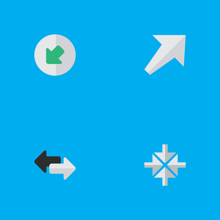 Elements Northwestward, Import, Southwestward And Other Synonyms Northwest, Southwestward And Arrow.  Vector Illustration Set Of Simple Pointer Icons.