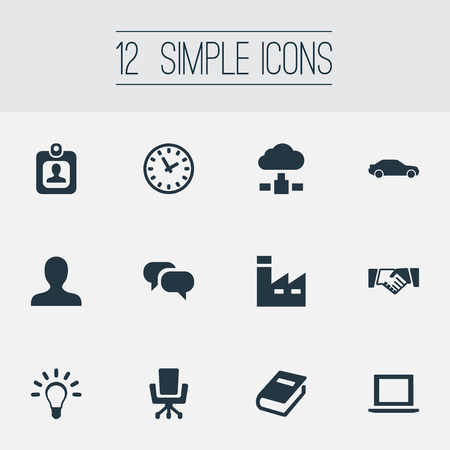 Elements Cloud Storage, Book, Automobile And Other Synonyms Friendship, Hatchback And Chatting.  Vector Illustration Set Of Simple Commerce Icons. Illustration